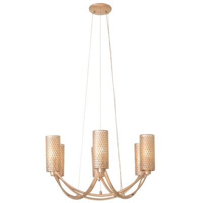 Casablanca 6-Light Shaded Chandelier Color: Gold