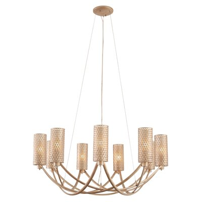 Casablanca 9-Light Shaded Chandelier Color: Gold