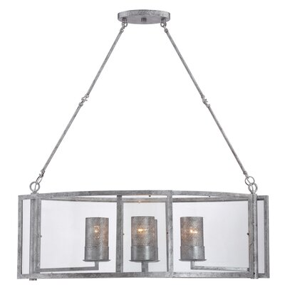 Jackson 4-Light Linear Pendant Finish: Antique Silver
