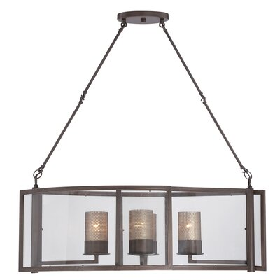 Jackson 4-Light Linear Pendant Finish: Rustic Bronze