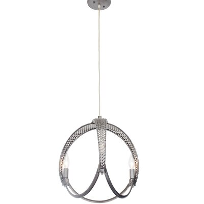 Casablanca 3-Light Mini Pendant Finish: Steel