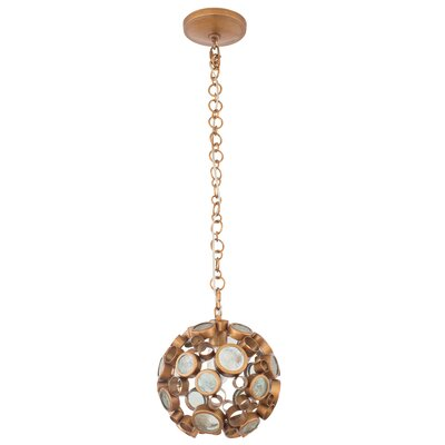 Fascination 1-Light Globe Pendant Finish: Hammered Ore