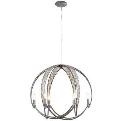 Casablanca 6-Light Mini Pendant Finish: Steel