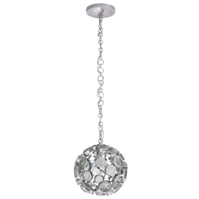 Fascination 1-Light Globe Pendant Finish: Nevada