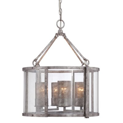 Jackson 4-Light Shaded Chandelier Finish: Antique Silver