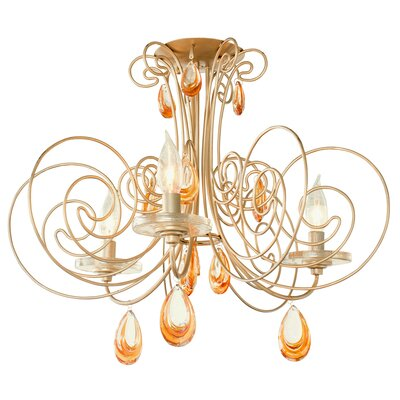 Elysse 3-Light Semi Flush Mount