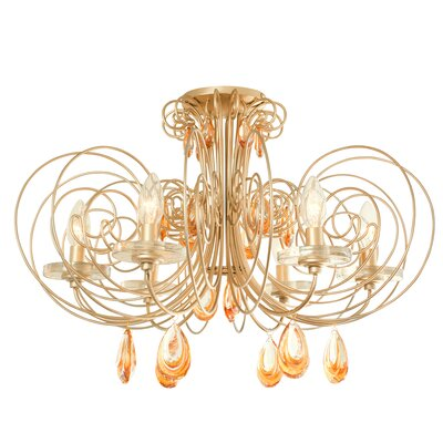 Elysse 6-Light Semi Flush Mount