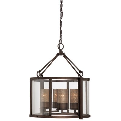 Jackson 4-Light Shaded Chandelier Finish: Rustic Bronze