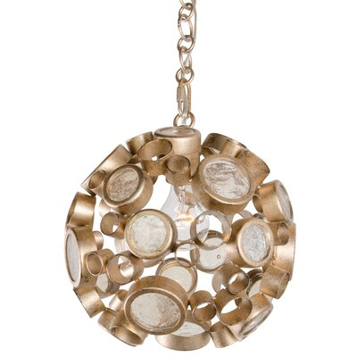 Fascination 1-Light Globe Pendant Finish: Zen Gold