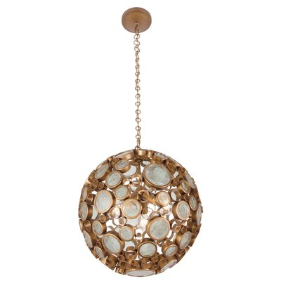 Fascination 3-Light Globe Pendant Finish: Hammered ore