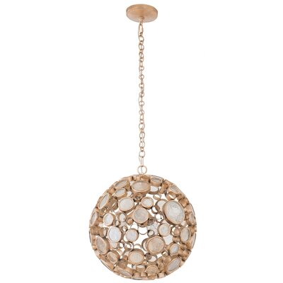 Fascination 3-Light Globe Pendant Finish: Zen Gold