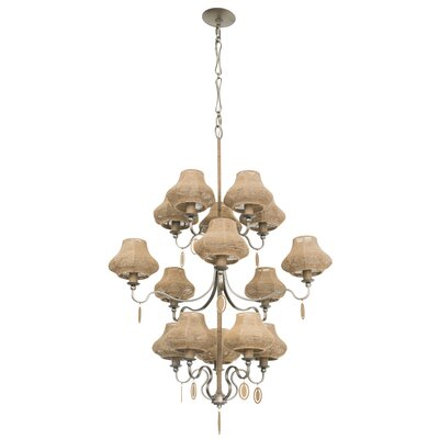 Haven 15-Light Shaded Chandelier