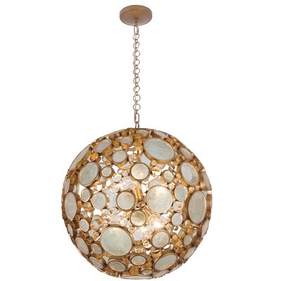 Fascination 6-Light Globe Pendant Finish: Hammered Ore