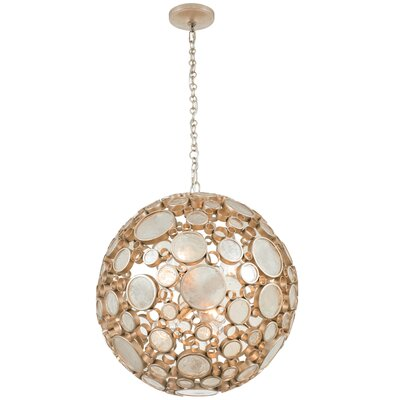 Fascination 6-Light Globe Pendant Finish: Zen Gold