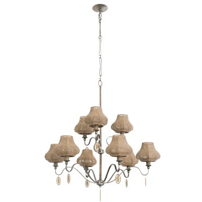 Haven 9-Light Shaded Chandelier