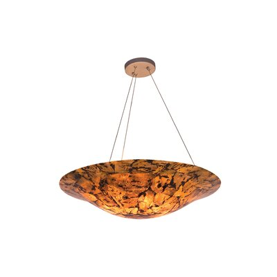 Big 4-Light Inverted Pendant Finish: Chocolate Tiger
