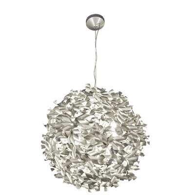 Varaluz Recycled Pinwheel Pendant Light - Medium Nine Light Chocolate Size: Small, Finish: Bronze