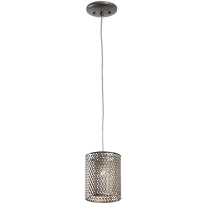 Casablanca 1-Light Mini Foyer Pendant Finish: Steel