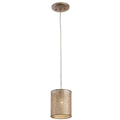 Casablanca 1-Light Mini Foyer Pendant Finish: Zen Gold
