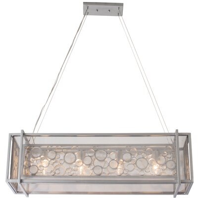 Fascination 5-Light Kitchen Island Pendant Finish: Metallic Silver