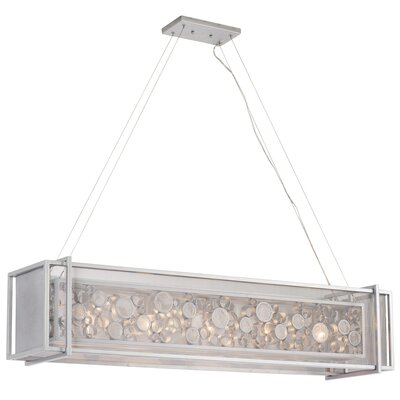 Fascination 4-Light Kitchen Island Pendant Finish: Metallic Silver