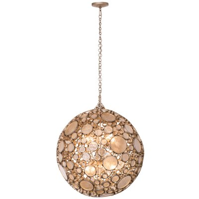 Fascination 8-Light Globe Pendant Finish: Zen Gold