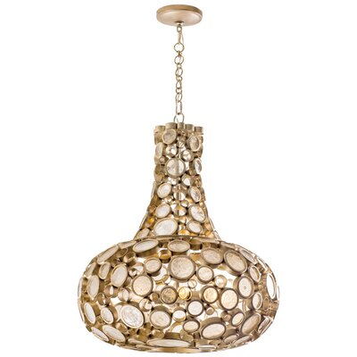 Fascination 4-Light Mini Pendant Finish: Zen Gold, Size: 28.25 H x 24 W x 24 D