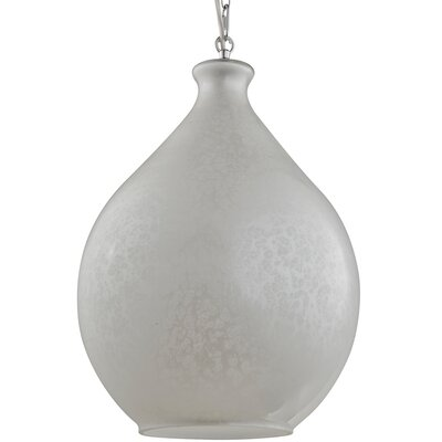 French Quarter 1-Light Mini Pendant Shade Color: Pearl White