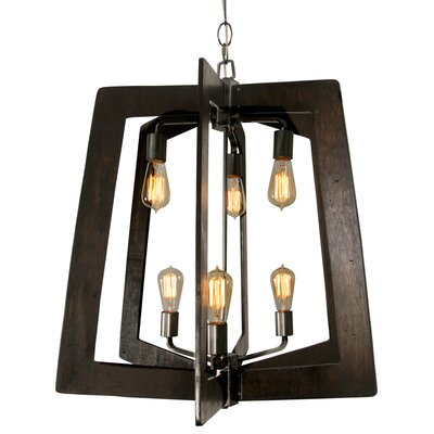 Blayze 6-Light Foyer Pendant Finish: Steel