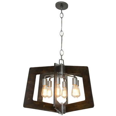 Lofty 6-Light Foyer Pendant Finish: Steel
