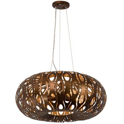 Masquerade 5-Light Globe Pendant Finish: Recycled Steel