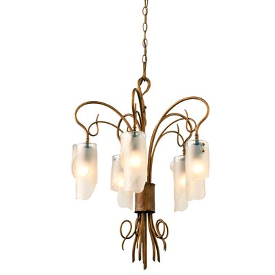 Recycled Soho 5-Light Shaded Chandelier Finish: Hammered Ore