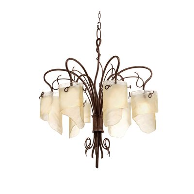 Recycled Soho 6-Light Shaded Chandelier Finish: Hammered Ore