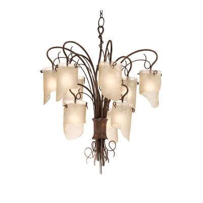 Recycled Soho 9-Light Shaded Chandelier Finish: Hammered Ore