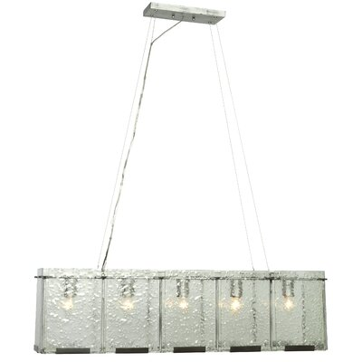 Recycled Rain 5-Light Kitchen Island Pendant Finish: Rainy Night