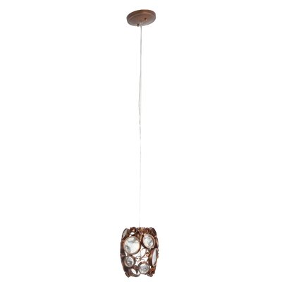 Fascination 1-Light Mini Pendant Finish: Hammered Ore (Copper)