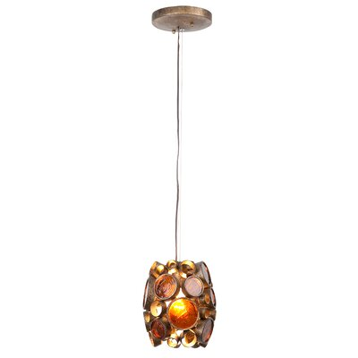 Fascination 1-Light Mini Pendant Finish: Kolorado (Red)