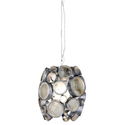 Fascination 1-Light Mini Pendant Finish: Nevada (Silver)
