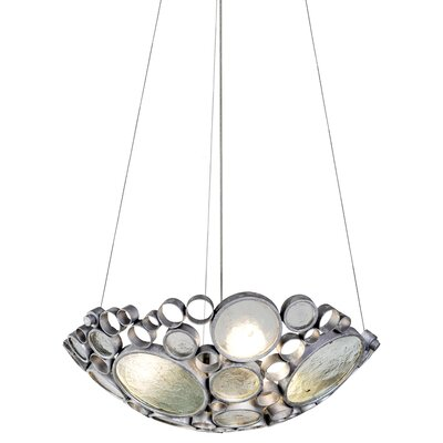 Fascination Inverted Pendant Size: 6 H x 20 W x 20 D, Finish: Nevada