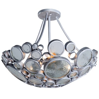 Recycled Fascination 3-Light Semi Flush Mount Ceiling Light Finish: Nevada
