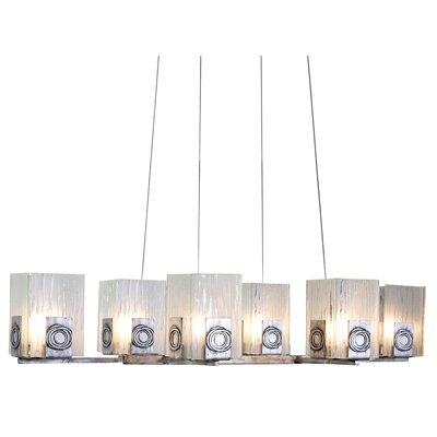 Polar 6-Light Kitchen Island Pendant