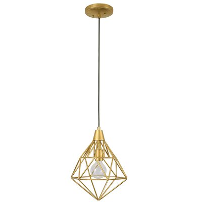 Facet 1-Light Pendant Finish: Gold Leaf