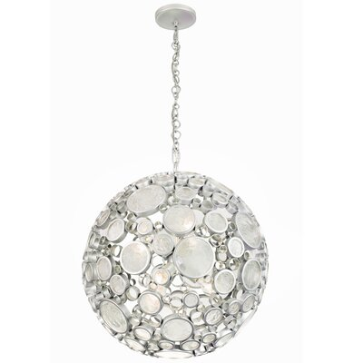 Fascination 6-Light Globe Pendant Finish: Metallic Silver