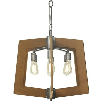 Lofty 6-Light Foyer Pendant Finish: Wheat and Steel