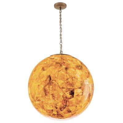 Big 3-Light Globe Pendant Shade Color: Champagne