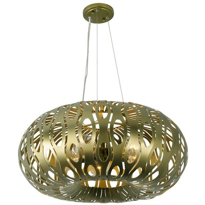 Masquerade 5-Light Globe Pendant Finish: Statue Garden