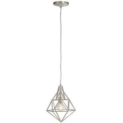 Facet 1-Light Pendant Finish: Silver Leaf