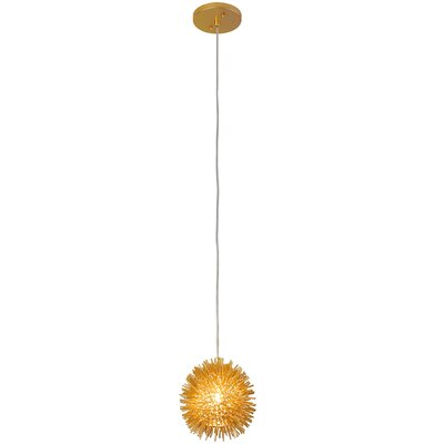 Urchin 1-Light Globe Pendant Finish: Gold