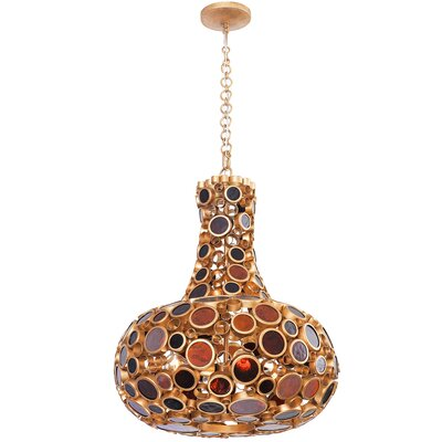 Fascination 4-Light Mini Pendant Finish: Kolorado, Size: 36 H x 11 W x 11 D