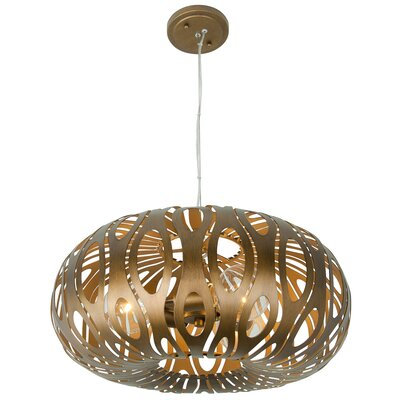 Bonney 3-Light Globe Pendant Finish: Hammered Ore
